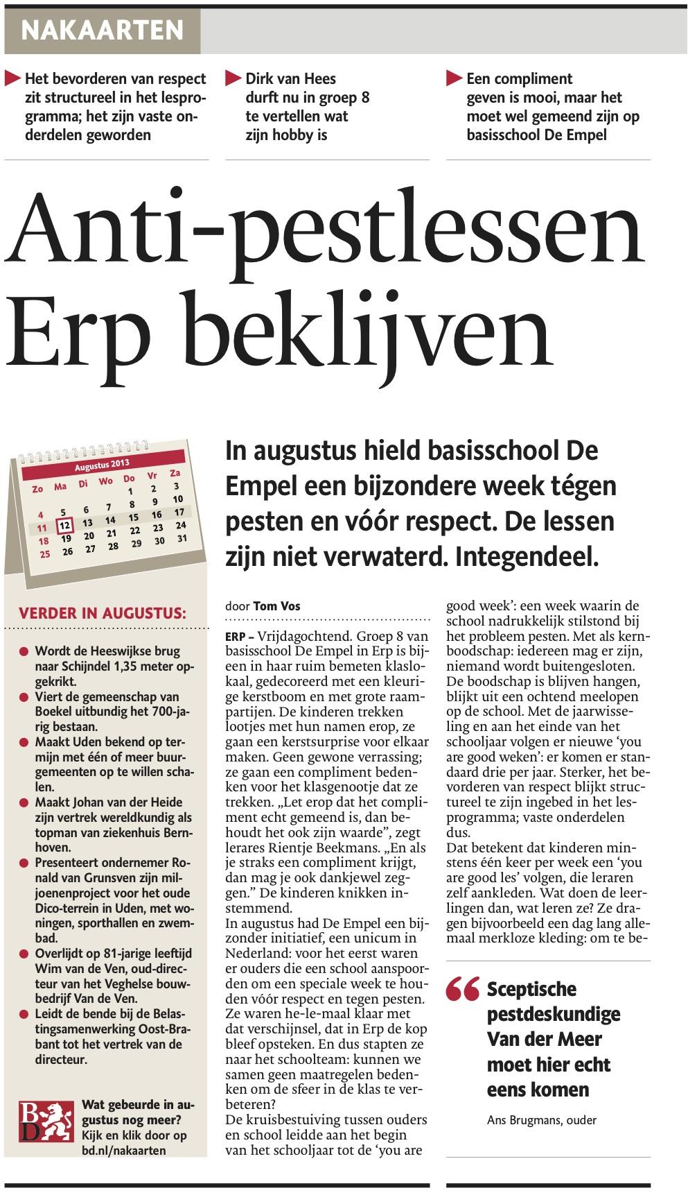 Br.Dagblad Dec.'13 Blz.1